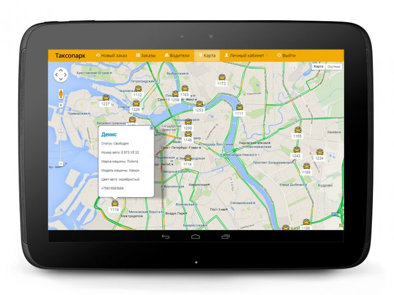 "Development of online management system for taxi services ""Taxi"""