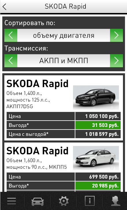 Mobile web application for Skoda authorized dealer
